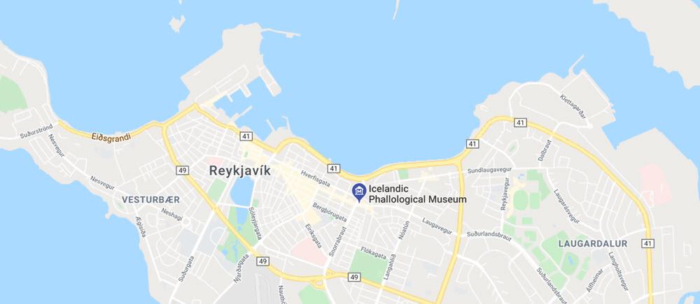 Icelandic Phallological Museum map